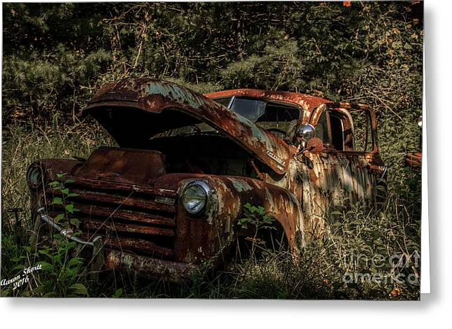 Check Under The Hood Greeting Card by Aaron Shortt