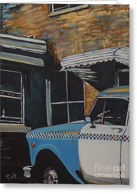 Checker Cab Greeting Card