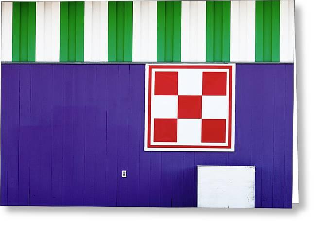 Checkerboard Splash Greeting Card by Todd Klassy