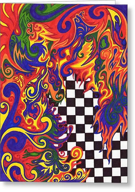 Checkers  Greeting Card by Mandy Shupp