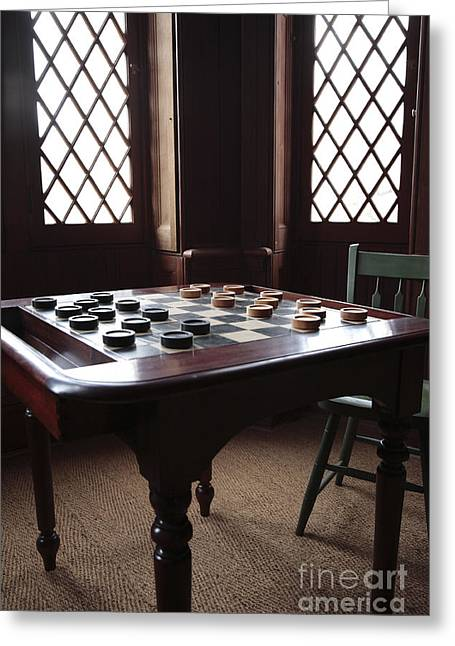 Checkers Table At The Lincoln Cottage In Washington Dc Greeting Card