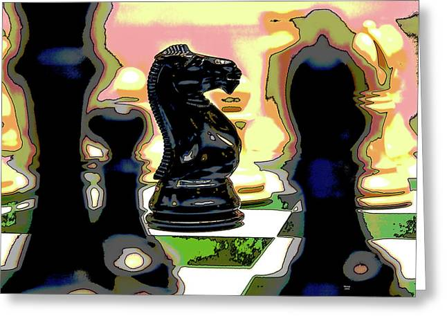Checkmate Greeting Card by Charles Shoup
