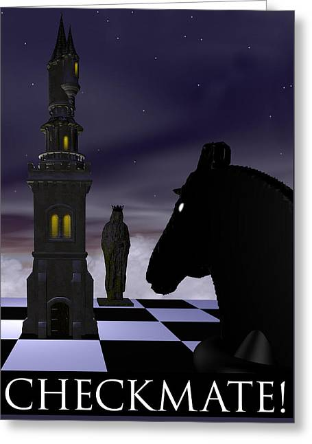 Checkmate Greeting Card by David Griffith