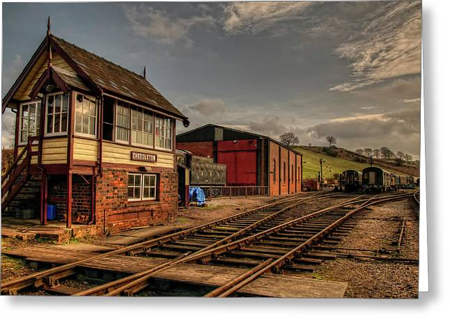Cheddleton Signalbox And Depot Greeting Card