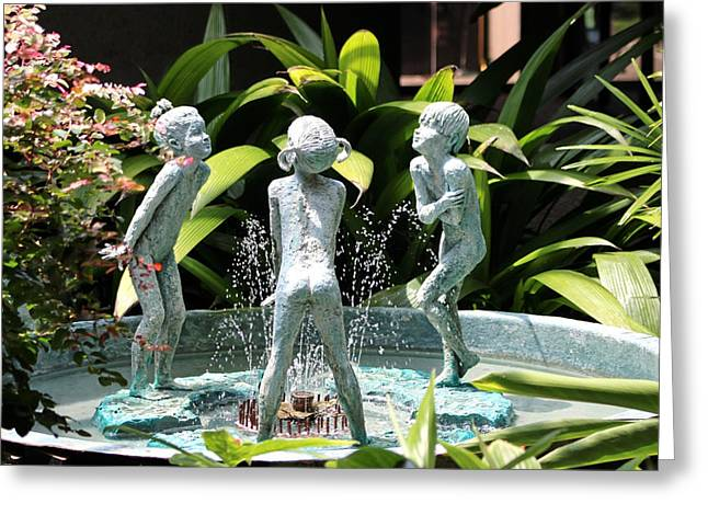 Cheekwood Fountain Greeting Card by Gayle Miller