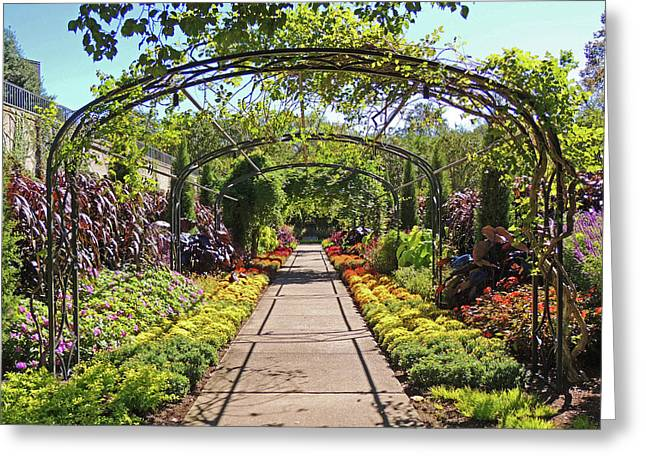 Cheekwood Gardens Arched Pathway Greeting Card