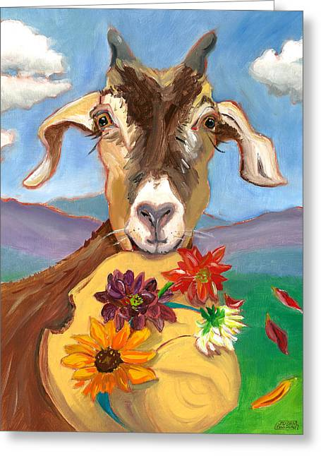 Cheeky Goat Greeting Card