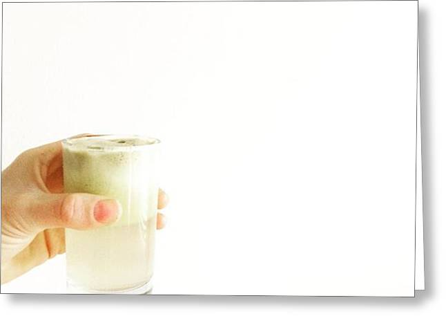 Cheers, Happy Humpday! #juice #raw Greeting Card