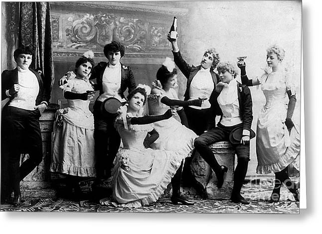 Cheers Ladies Greeting Card by Jon Neidert