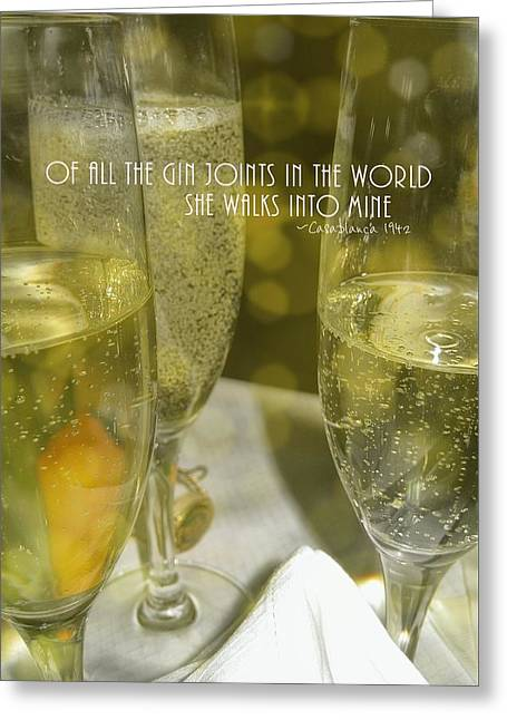 Cheers Quote Greeting Card by JAMART Photography