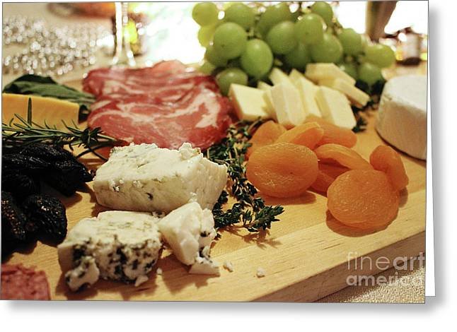 Cheese And Meat Greeting Card