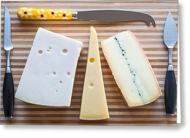 Greeting Card featuring the photograph Cheese Board by Ari Salmela