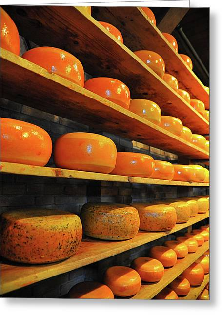 Greeting Card featuring the photograph Cheese In Holland by Harry Spitz