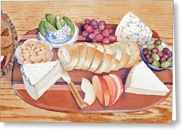 Cheese Plate For A Party Greeting Card