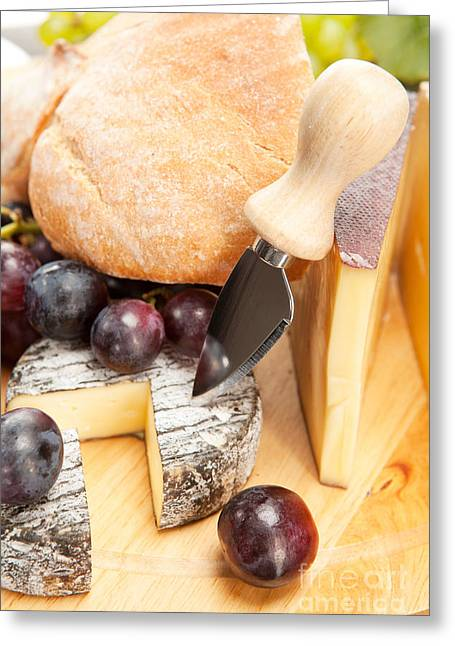 Cheese Plate Greeting Card by Wolfgang Steiner