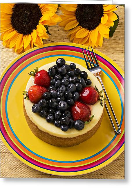 Cheesecake With Fruit Greeting Card