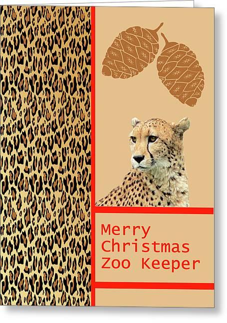 Cheetah Card For Zoo Keeper Greeting Card by Rosalie Scanlon