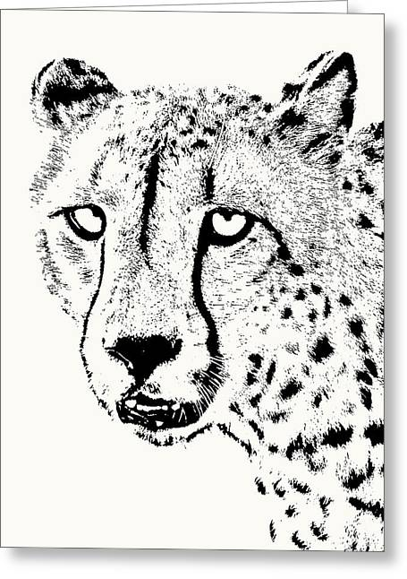 Cheetah Close-up Greeting Card