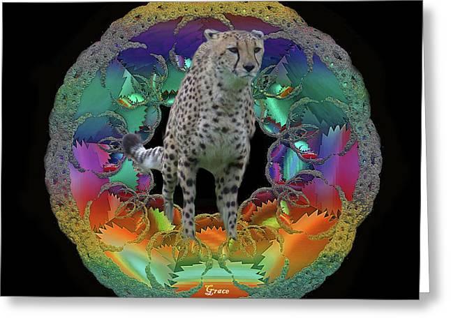 Cheetah Greeting Card by Julie Grace