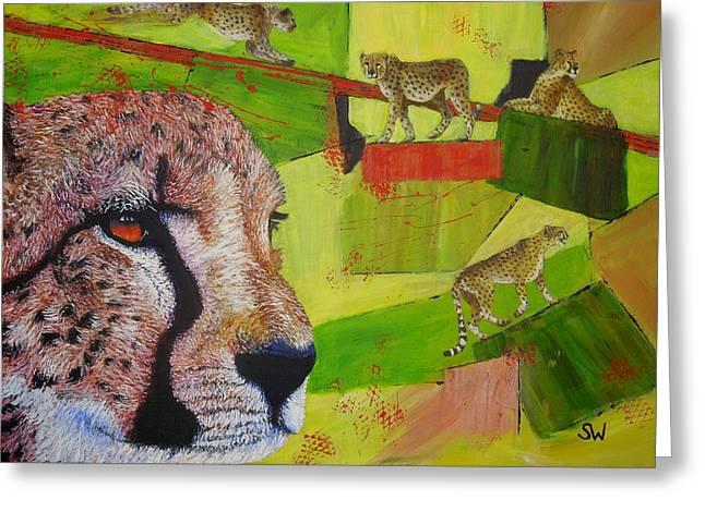 Cheetahs At Play Greeting Card