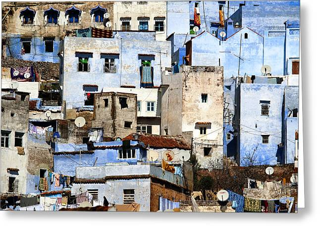 Chefchaouen 1 Greeting Card by Kenton Smith