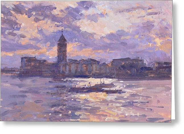 Chelsea Harbour Greeting Card by Christopher Glanville