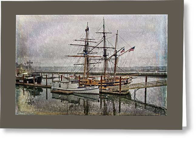 Chelsea Rose And Tall Ships Greeting Card