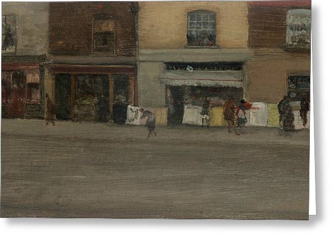 Chelsea Shops Greeting Card by James Abbott McNeill Whistler