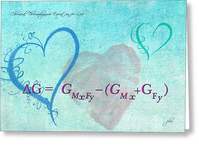 Chemical Thermodynamic Equation For Love Greeting Card