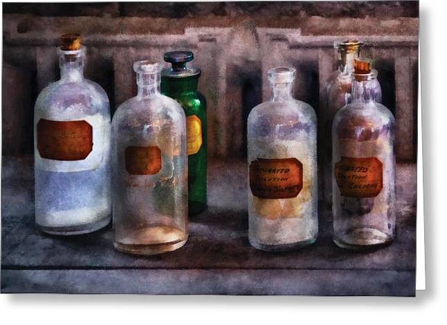 Chemistry - Saturated Solutions Greeting Card by Mike Savad