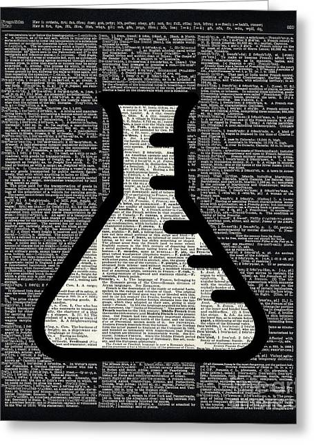 Chemistry - Alchemy Vial Greeting Card by Jacob Kuch