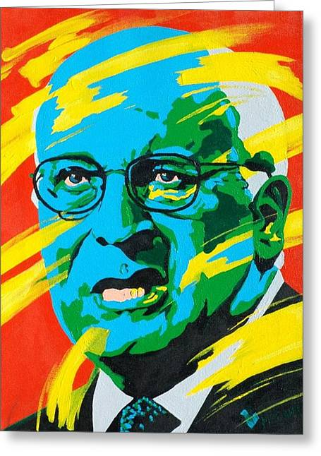 Cheney Greeting Card by Dennis McCann