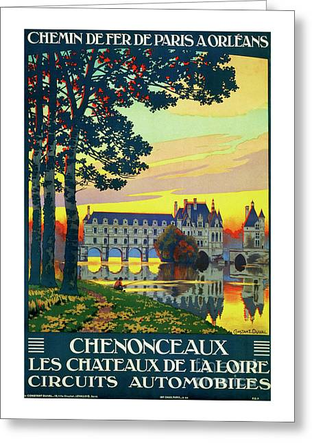 Chenonceaux, French Travel Poster Greeting Card