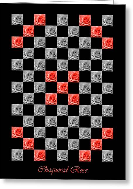 Chequered Rose Greeting Card