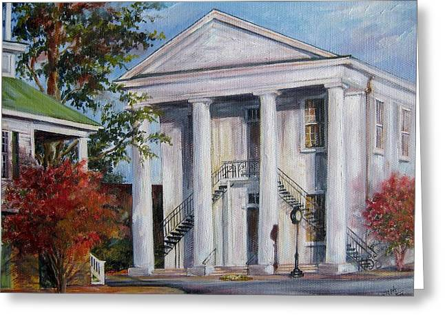 Cheraw Town Hall In The Fall Greeting Card