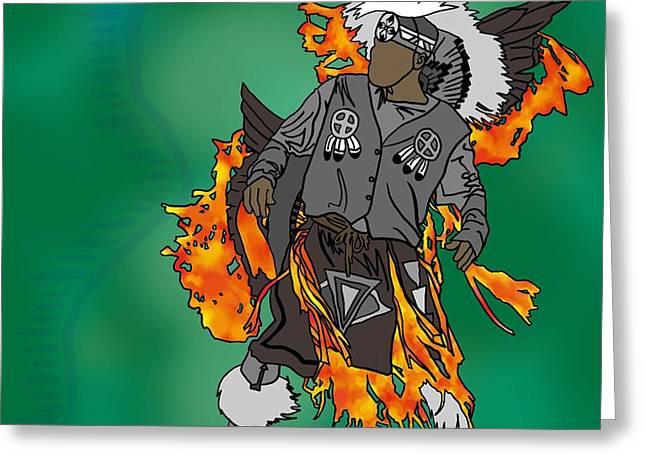 Cherokee 2 Greeting Card by M Blaze Wolenski