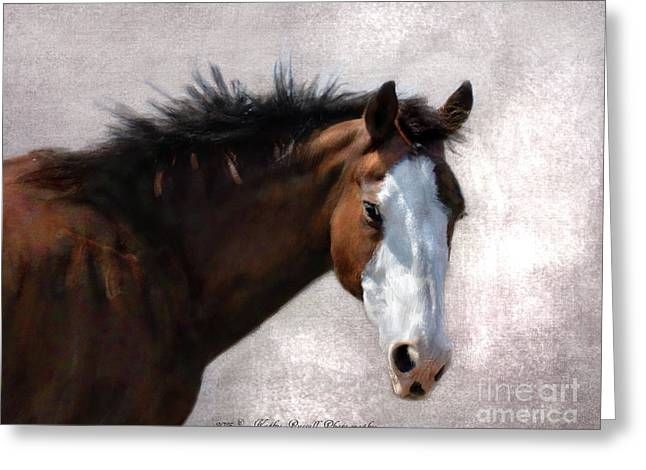 Cherokee Greeting Card by Kathy Russell