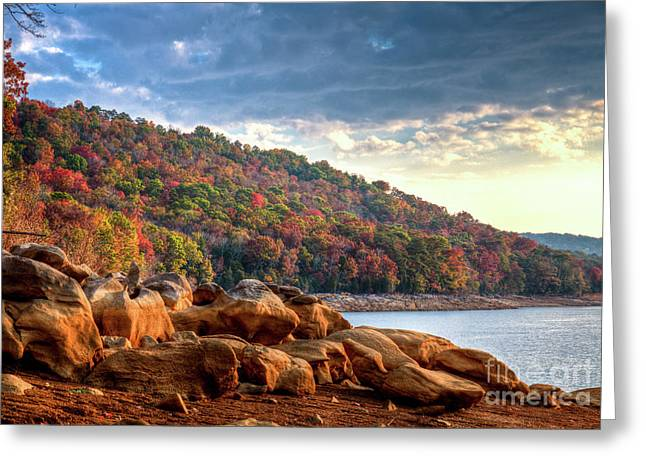 Greeting Card featuring the photograph Cherokee Lake Color II by Douglas Stucky