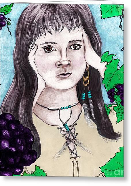 Cherokee Tears, Seeds Of Discord Greeting Card by Janice Moore