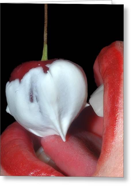 Cherries And Cream Greeting Card