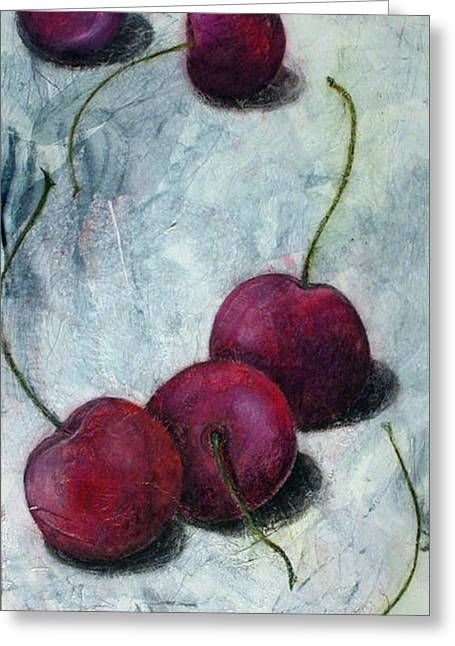 Cherries Jubilee Greeting Card by Sandy Clift