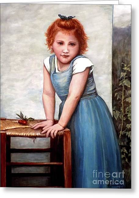 Cherries Greeting Card by Judy Kirouac