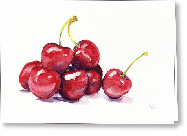 Cherries Greeting Card by Michelle Sheppard