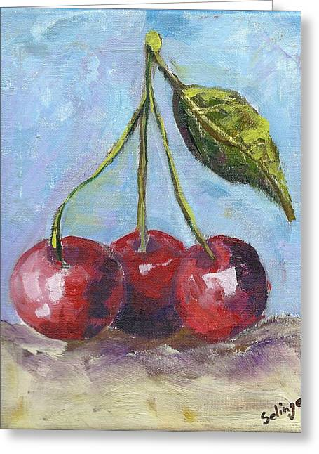 Cherries One Two Three Greeting Card