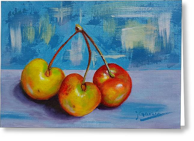 Cherries Trio Greeting Card