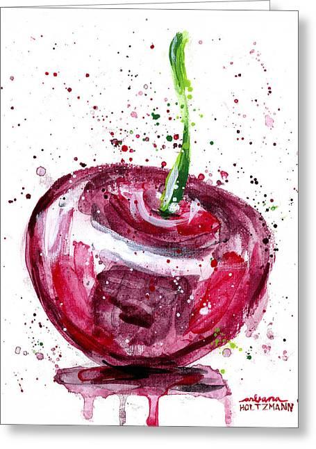 Cherry 1 Greeting Card by Arleana Holtzmann
