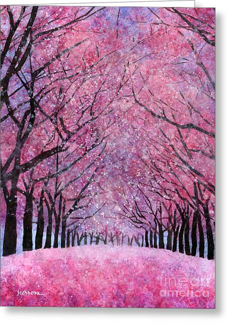 Greeting Card featuring the painting Cherry Blast by Hailey E Herrera