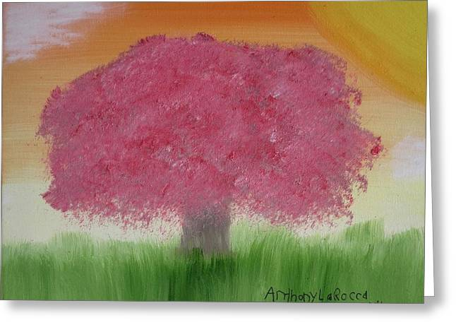 Cherry Blossom Greeting Card by Artists With Autism Inc