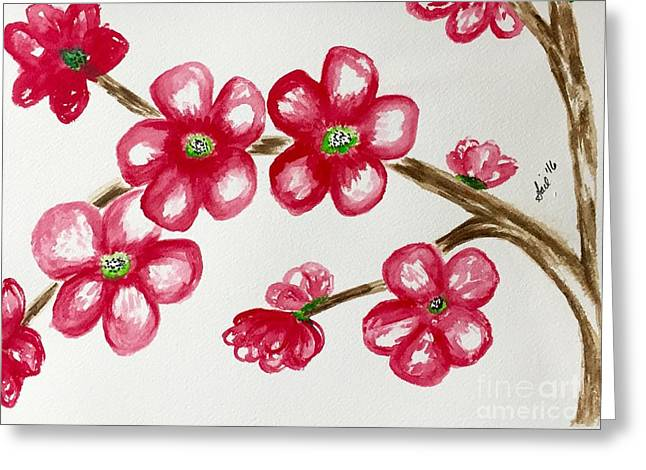Cherry Blossom Season   Greeting Card by Gail Nandlal