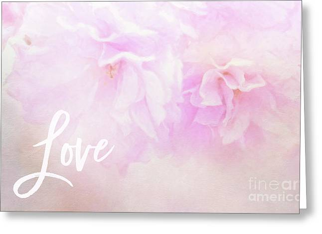 Cherry Blossom Valentine Greeting Card